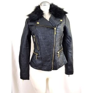 Carson Kressley Size M Black Quilted Jacket